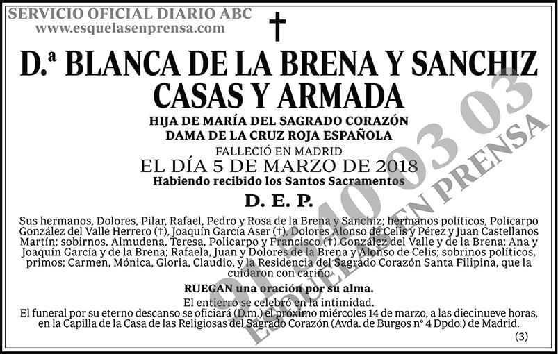 Blanca de la Brena y Sanchiz Casas y Armada